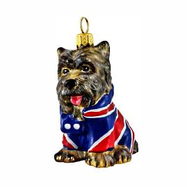 Union Jack Flag Yorkshire Terrier Ornament