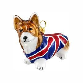 Diva Dog Westie in Union Jack Coat Ornament
