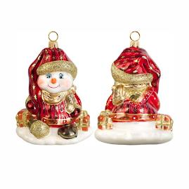 Glitterazzi Czech Snowman Ornament