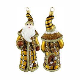 Glitterazzi Beehive Jeweled Santa Ornament