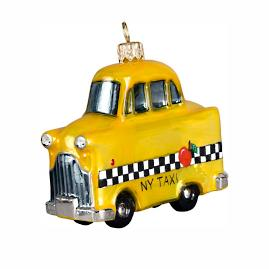 Yellow NY Taxi Cab Ornament