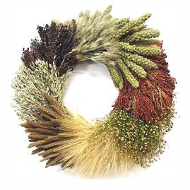 Harvest Wheel Dried Wreath