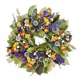 Echinops Dried Wreath