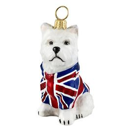 Westie Union Jack Ornament