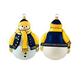 Collegiate Chubby Snowman Ornament