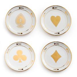 Chez Elle Aces Coupe Plates, Set of Four