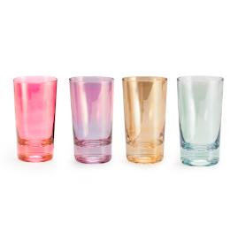 Chez Elle Luster Highball Glasses, Set of Four