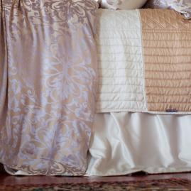 Silk Diamond Quilted Reversible Bed Skirt