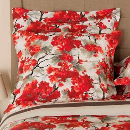 Frette Flowery Print Euro Pillow Sham