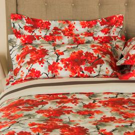 Frette Flowery Print Pillow Sham