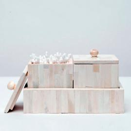 Gaya Square Boxes with Rectangular Tray by Pigeon