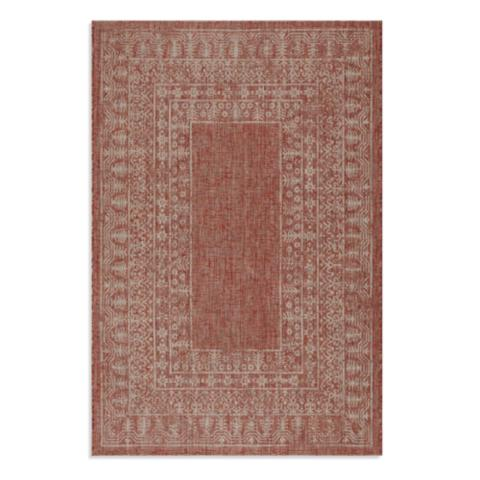 St. Lucia Border Indoor/Outdoor Rug | Frontgate