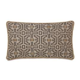 Maori Stone Decorative Lumbar Pillow with Cording