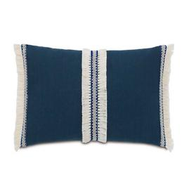 Breeze Indigo With Trim Decorative Lumbar Pillow