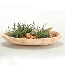 Easter Grass in Oval Wood Planter