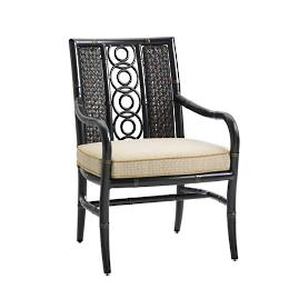 Marimba Wicker Dining Chair with Cushions by Tommy