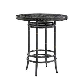 Marimba Wicker High/Low Bistro Bar Table by Tommy