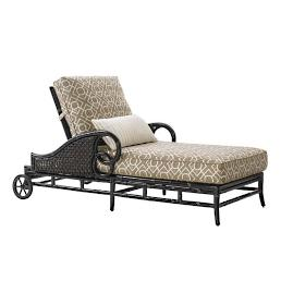 Marimba Wicker Chaise with Cushions by Tommy Bahama