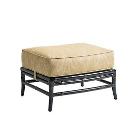 Marimba Wicker Ottoman with Cushion by Tommy Bahama