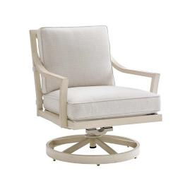 Misty Garden Swivel Rocking Lounge Chair with Cushions