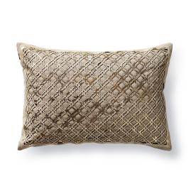 Oni Laser Cut Hide Decorative Pillow