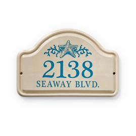 Starfish Address Plaque