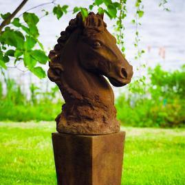 Jackson Cast Stone Horse Bust