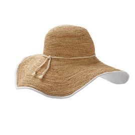Ellie Raffia and Cotton Sun Hat