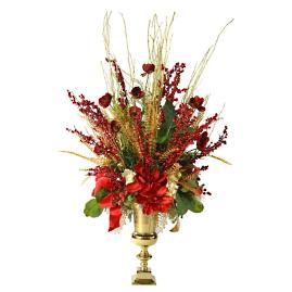 Red Gold Traditional Holiday Spray Arrangement
