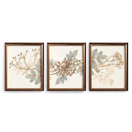 Sea Botanical Triptych