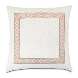 Ledger Mitered Border Decorative Pillow