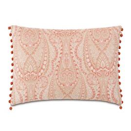 Rena Beaded Trim Decorative Pillow