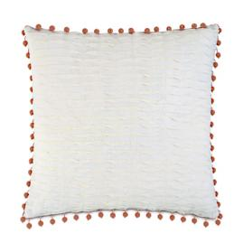 Yearling Pearl Beaded Trim Decorative Pillow