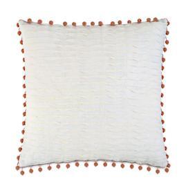 Yearling Pearl Beaded Trim Decorative Pillow