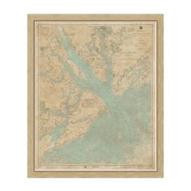 Port Royal Sound Framed Map