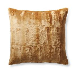 Karina Gold Faux Fur Decorative Pillow