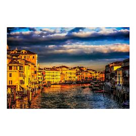Sunset Over Venice Wall Art
