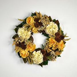 Mixed Floral Fall Wreath