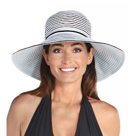 Women's Ribbon Striped Hat