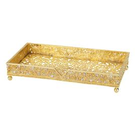 Gold Windsor Guest Towel Tray