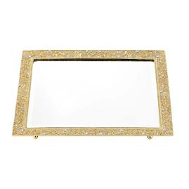 Gold Windsor Beveled Mirror Tray