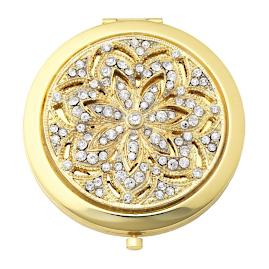 Gold Windsor Crystal Compact