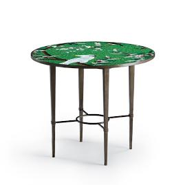 Mosaic Birds and Blossoms Round Table
