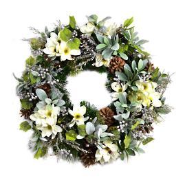 Winter Magnolia and Lambear Wreath