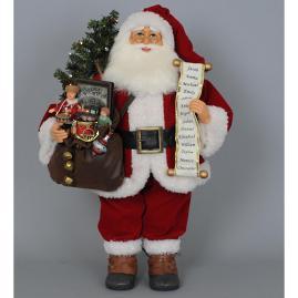 Karen Didion Lighted Vintage Gift Bag Santa