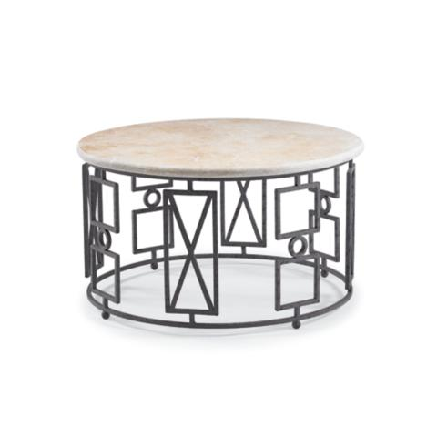 Buckhead 39 s geometric coffee table frontgate for Geometric coffee table