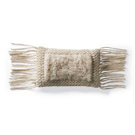 Felix Wool Fringe Lumbar Pillow