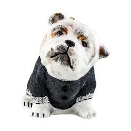Diva Dog Bull Dog in Grey Flocked Coat