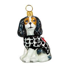 Diva Dog Cavalier King Tri Color in Houndstooth