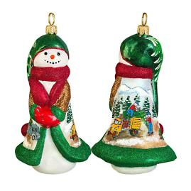 Glitterazzi Christmas Tree Farm Snowman Ornament